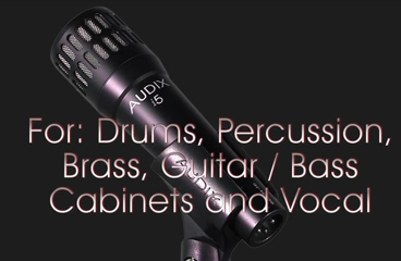 This is the Audix i5 Instrument Microphone